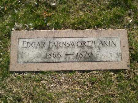 AKIN, EDGAR FARNSWORTH - Douglas County, Nebraska | EDGAR FARNSWORTH AKIN - Nebraska Gravestone Photos