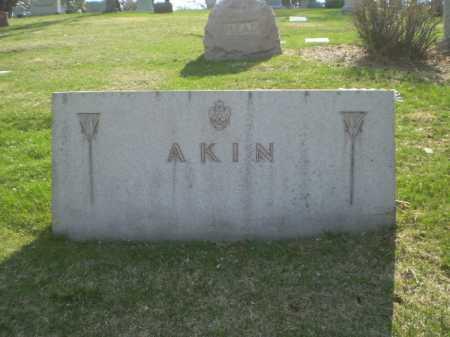 AKIN, FAMILY MARKER - Douglas County, Nebraska   FAMILY MARKER AKIN - Nebraska Gravestone Photos