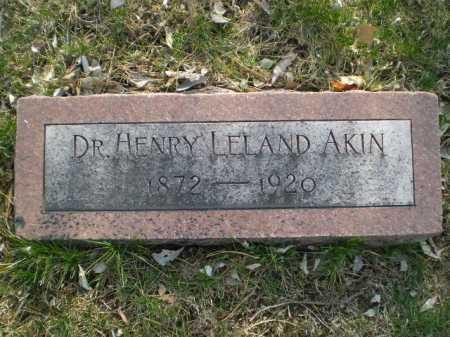 AKIN, HENRY LELAND - Douglas County, Nebraska | HENRY LELAND AKIN - Nebraska Gravestone Photos