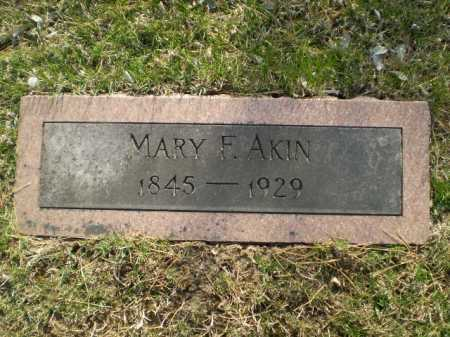 AKIN, MARY F. - Douglas County, Nebraska | MARY F. AKIN - Nebraska Gravestone Photos
