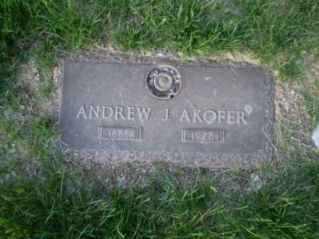 AKOFER, ANDREW J. - Douglas County, Nebraska | ANDREW J. AKOFER - Nebraska Gravestone Photos