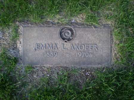 AKOFER, EMMA L. - Douglas County, Nebraska | EMMA L. AKOFER - Nebraska Gravestone Photos