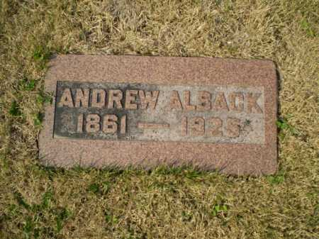 ALBACK, ANDREW - Douglas County, Nebraska | ANDREW ALBACK - Nebraska Gravestone Photos