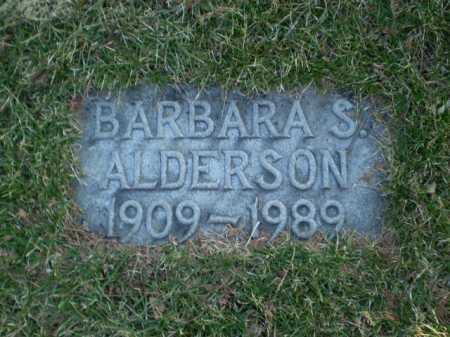 ALDERSON, BARBARA S. - Douglas County, Nebraska | BARBARA S. ALDERSON - Nebraska Gravestone Photos