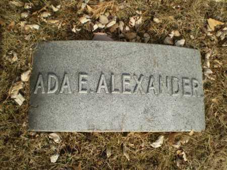 ALEXANDER, ADA E. - Douglas County, Nebraska | ADA E. ALEXANDER - Nebraska Gravestone Photos
