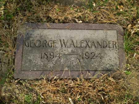 ALEXANDER, GEORGE W - Douglas County, Nebraska | GEORGE W ALEXANDER - Nebraska Gravestone Photos