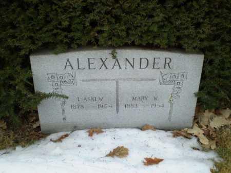 ALEXANDER, MARY W - Douglas County, Nebraska | MARY W ALEXANDER - Nebraska Gravestone Photos