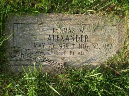 ALEXANDER, THOMAS W. - Douglas County, Nebraska   THOMAS W. ALEXANDER - Nebraska Gravestone Photos