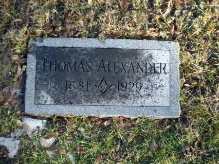 ALEXANDER, THOMAS - Douglas County, Nebraska | THOMAS ALEXANDER - Nebraska Gravestone Photos
