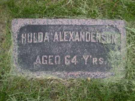 ALEXANDERSON, HULDA - Douglas County, Nebraska | HULDA ALEXANDERSON - Nebraska Gravestone Photos