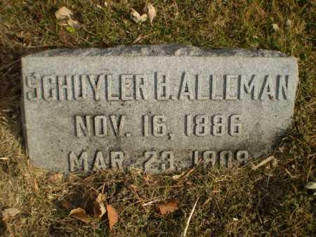 ALLEMAN, SCHUYLER B - Douglas County, Nebraska   SCHUYLER B ALLEMAN - Nebraska Gravestone Photos