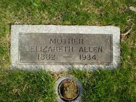 ALLEN, ELIZABETH - Douglas County, Nebraska | ELIZABETH ALLEN - Nebraska Gravestone Photos