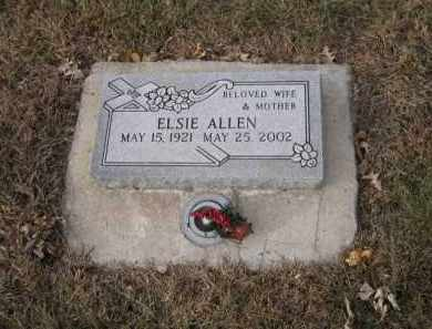 ALLEN, ELSIE - Douglas County, Nebraska | ELSIE ALLEN - Nebraska Gravestone Photos