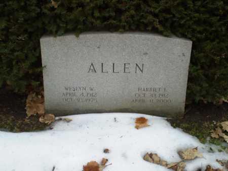 ALLEN, WESLYN W - Douglas County, Nebraska   WESLYN W ALLEN - Nebraska Gravestone Photos