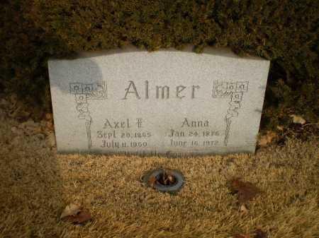 ALMER, AXEL F - Douglas County, Nebraska | AXEL F ALMER - Nebraska Gravestone Photos
