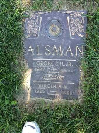 KING ALSMAN, VIRGINIA - Douglas County, Nebraska | VIRGINIA KING ALSMAN - Nebraska Gravestone Photos