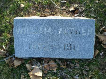 ALTHEN, WILLIAM - Douglas County, Nebraska   WILLIAM ALTHEN - Nebraska Gravestone Photos