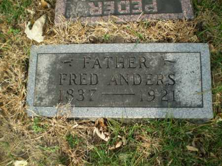 ANDERS, FRED - Douglas County, Nebraska | FRED ANDERS - Nebraska Gravestone Photos