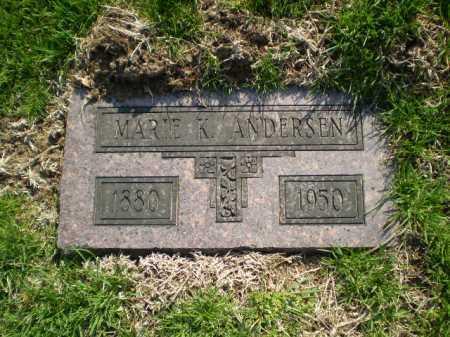 ANDERSEN, MARIE K. - Douglas County, Nebraska | MARIE K. ANDERSEN - Nebraska Gravestone Photos