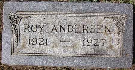 ANDERSEN, ROY - Douglas County, Nebraska | ROY ANDERSEN - Nebraska Gravestone Photos