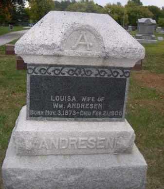 ANDRESEN, LOUISA - Douglas County, Nebraska | LOUISA ANDRESEN - Nebraska Gravestone Photos