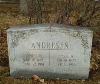 ANDRESEN, SOPHUS B - Douglas County, Nebraska | SOPHUS B ANDRESEN - Nebraska Gravestone Photos