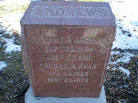 RYAN ANDREWS, LUCILLE A - Douglas County, Nebraska | LUCILLE A RYAN ANDREWS - Nebraska Gravestone Photos