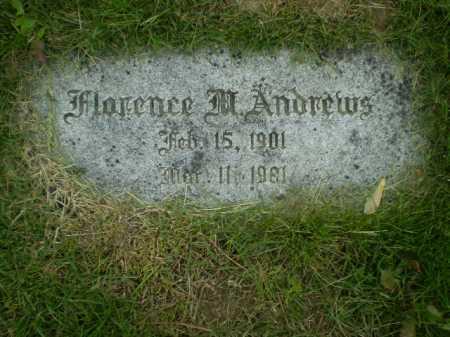 ANDREWS, FLORENCE M - Douglas County, Nebraska   FLORENCE M ANDREWS - Nebraska Gravestone Photos