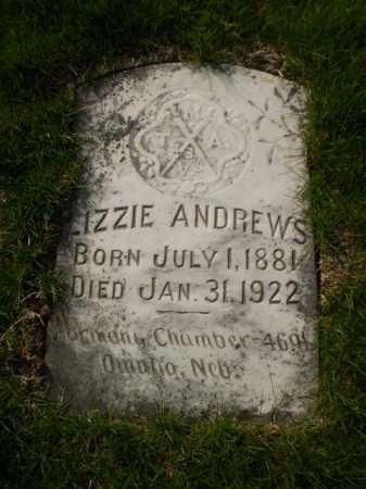 ANDREWS, LIZZIE - Douglas County, Nebraska | LIZZIE ANDREWS - Nebraska Gravestone Photos