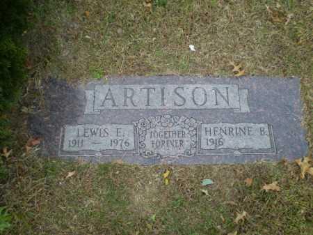 ARTISON, LEWIS E. - Douglas County, Nebraska | LEWIS E. ARTISON - Nebraska Gravestone Photos