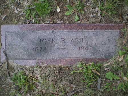 ASHE, JOHN B - Douglas County, Nebraska | JOHN B ASHE - Nebraska Gravestone Photos
