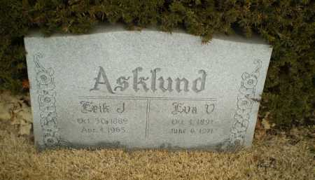 ASKLUND, ERIK J - Douglas County, Nebraska | ERIK J ASKLUND - Nebraska Gravestone Photos