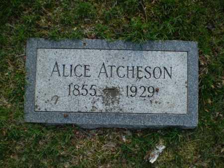 ATCHESON, ALICE - Douglas County, Nebraska | ALICE ATCHESON - Nebraska Gravestone Photos