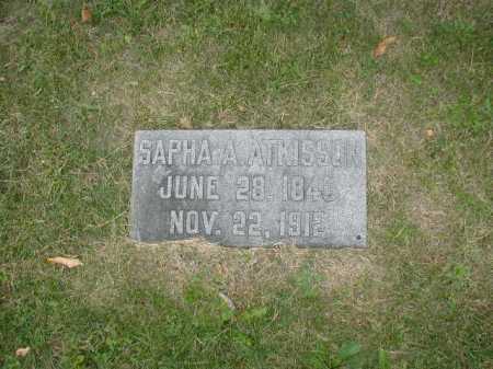ATKISSON, SAPHA A - Douglas County, Nebraska | SAPHA A ATKISSON - Nebraska Gravestone Photos