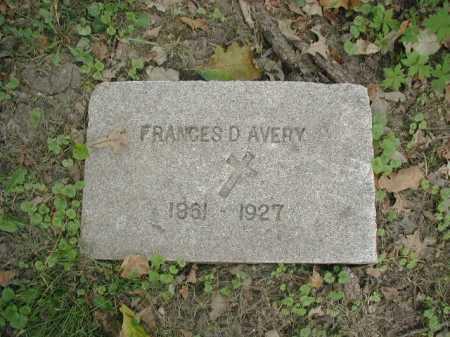 AVERY, FRANCES D - Douglas County, Nebraska | FRANCES D AVERY - Nebraska Gravestone Photos
