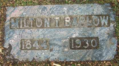 BARLOW, MILTON THEODORE - Douglas County, Nebraska   MILTON THEODORE BARLOW - Nebraska Gravestone Photos