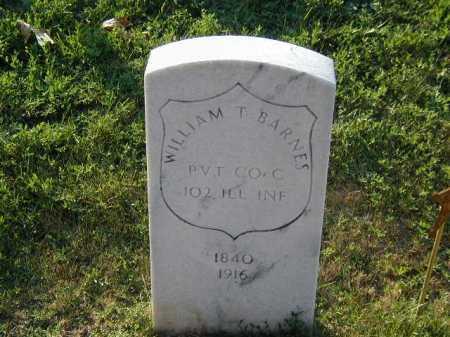 BARNES, WILLIAM T - Douglas County, Nebraska | WILLIAM T BARNES - Nebraska Gravestone Photos