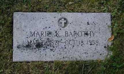 BAROTHY, MARIE KOUNAGUNDA - Douglas County, Nebraska | MARIE KOUNAGUNDA BAROTHY - Nebraska Gravestone Photos