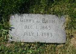 BAUM, GERRY L - Douglas County, Nebraska   GERRY L BAUM - Nebraska Gravestone Photos