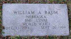 BAUM, WILLIAM A. - Douglas County, Nebraska | WILLIAM A. BAUM - Nebraska Gravestone Photos