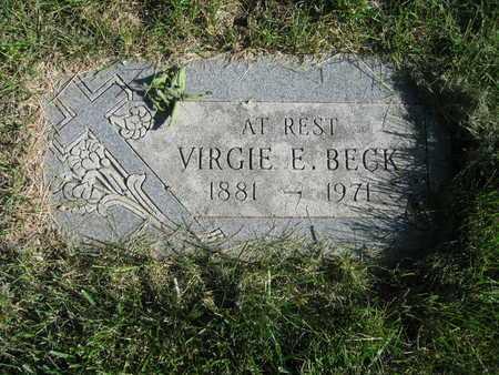 BECK, VIRGIE E - Douglas County, Nebraska | VIRGIE E BECK - Nebraska Gravestone Photos