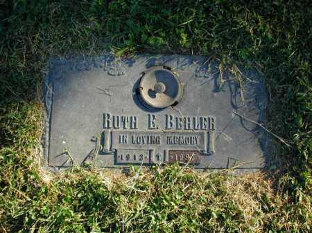 BEHLER, RUTH E - Douglas County, Nebraska | RUTH E BEHLER - Nebraska Gravestone Photos