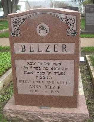 BELZER, ANNA - Douglas County, Nebraska   ANNA BELZER - Nebraska Gravestone Photos