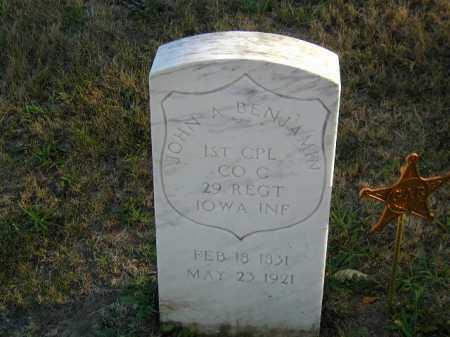 BENJAMIN, JOHN A - Douglas County, Nebraska | JOHN A BENJAMIN - Nebraska Gravestone Photos