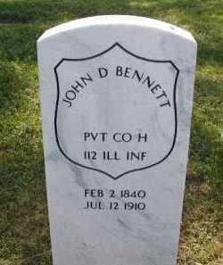 BENNETT, JOHN D - Douglas County, Nebraska | JOHN D BENNETT - Nebraska Gravestone Photos