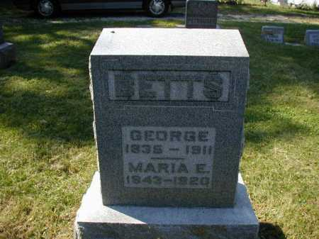 BETTS, MARIA E - Douglas County, Nebraska | MARIA E BETTS - Nebraska Gravestone Photos