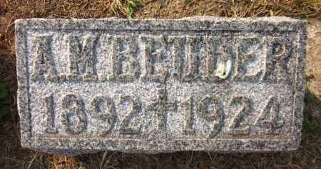BEUDER, A.M. - Douglas County, Nebraska | A.M. BEUDER - Nebraska Gravestone Photos