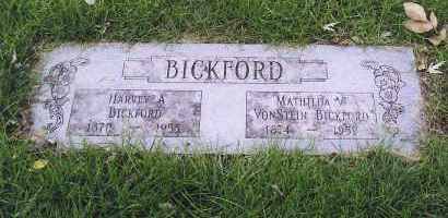 BICKFORD, MATHILDA V. - Douglas County, Nebraska   MATHILDA V. BICKFORD - Nebraska Gravestone Photos