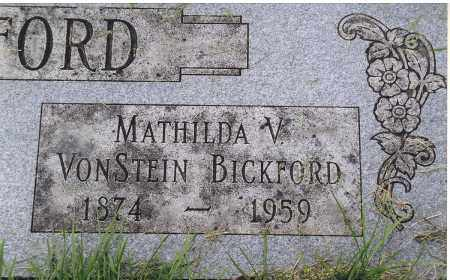 BICKFORD, MATHILDA V. VONSTEIN - Douglas County, Nebraska | MATHILDA V. VONSTEIN BICKFORD - Nebraska Gravestone Photos