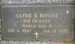 BIVENS, CLYDE E - Douglas County, Nebraska   CLYDE E BIVENS - Nebraska Gravestone Photos
